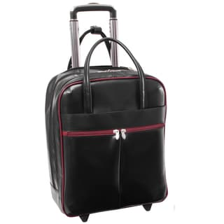 Deals on McKlein USA Volo Leather Rolling 15-inch Laptop Tote Bag