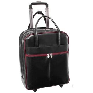 McKlein USA Volo Leather Rolling 15-inch Laptop Tote Bag