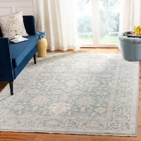 Safavieh Oushak Traditional Oriental Hand-Knotted Wool Blue Area Rug - 9' x 12'