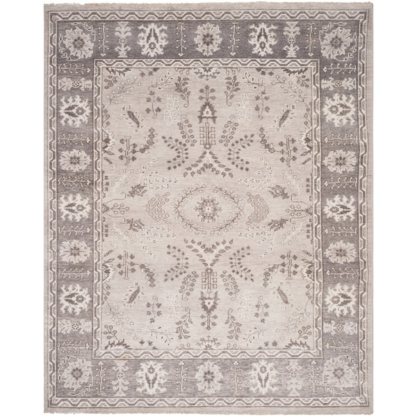 Shop Beige Wool Hand Knotted Oriental Persian Area Rug 6: Shop Woodiwiss Oriental Hand-Knotted Wool Beige Area Rug