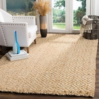 Safavieh Natural Fiber Coastal Geometric Hand-Woven Jute Ivory/ Natural Area Rug - 10' x 14'