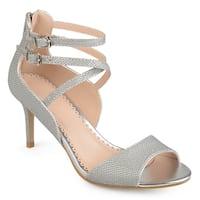 Journee Collection Women's 'Bryce' Strappy Open-toe Glitter Heels