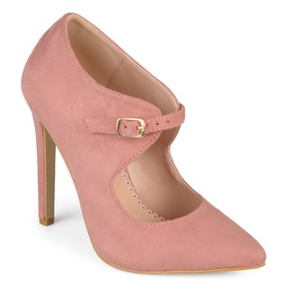 Journee Collection Women's 'Connly' Cut-out Pointed Toe Heels