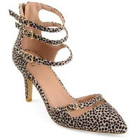 Journee Collection Women's 'Mariah' Faux Suede Multi-strap Pointed Toe High Heels