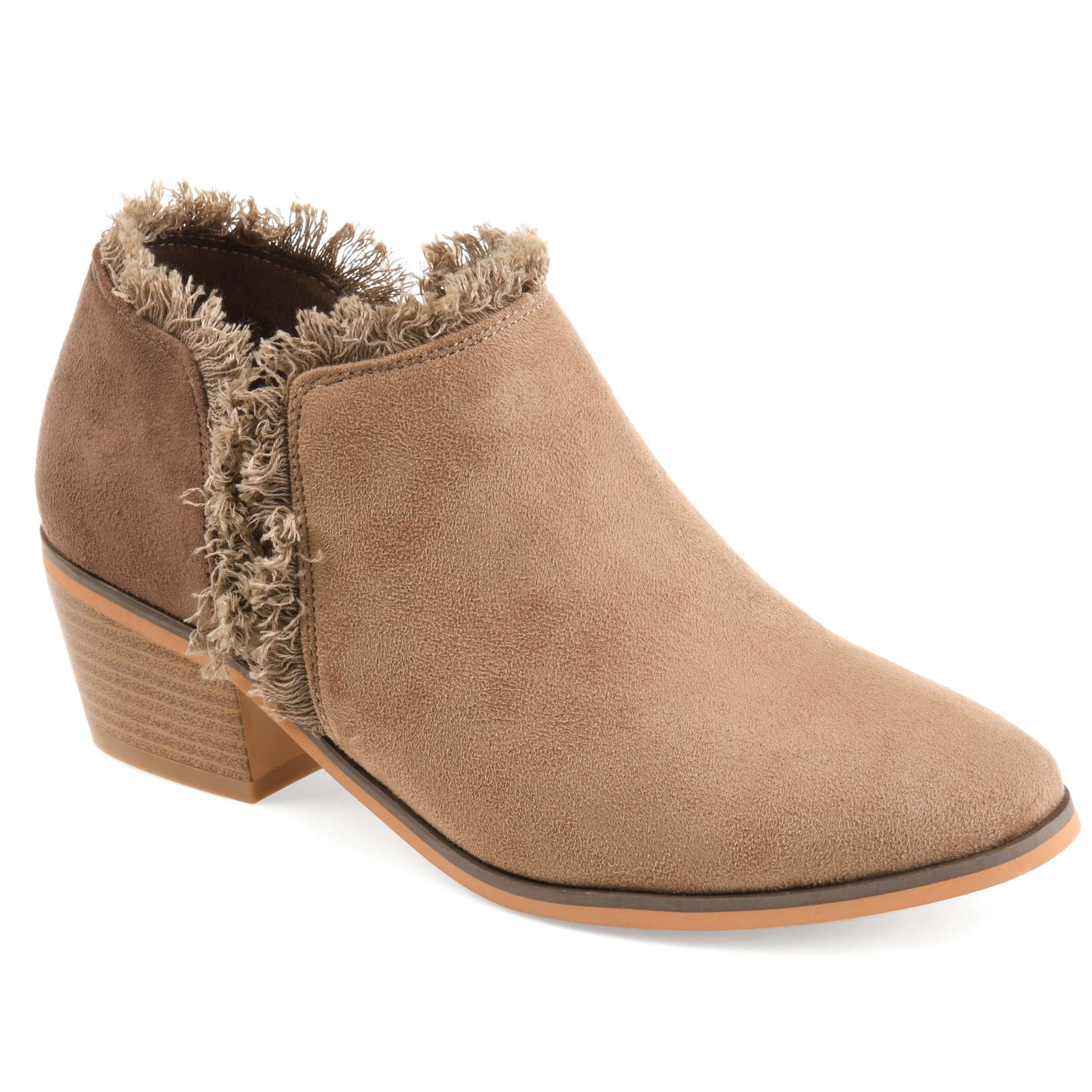 daea97d226631a Journee Collection Women's 'Moxie' Fringe Faux Suede Ankle Booties ...