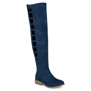 Journee Collection Women's 'Pitch' Regular and Wide Calf Cut-out Over-the-knee Boots