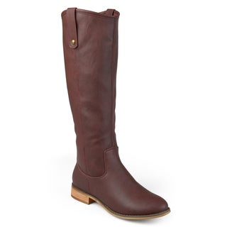 Journee Collection Women's 'Taven' Regular Wide Calf and Extra Wide Calf Round Toe Mid-calf Boots
