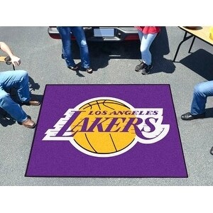 Shop NBA - Los Angeles Lakers Tailgater Rug 5 x6  - Free Shipping On Orders  Over  45 - Overstock.com - 16518957 fd25c836c