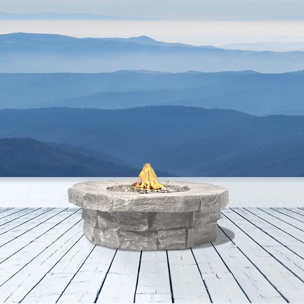 Marbella Cast Stone Propane Fire Pit Table