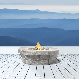 Marbella Cast Stone Propane Fire Pit Table