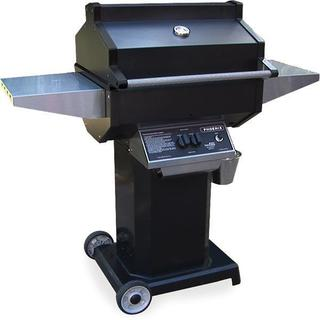 Phoenix Grill - PFMG Black - Liquid Propane Grill Head On Black Pedestal Cart