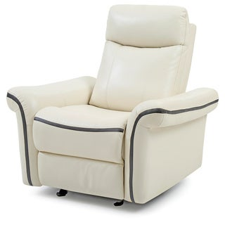 Lyke Home White Faux Leather Recliner