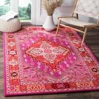 Safavieh Bellagio Contemporary Geometric Hand-Tufted Wool Red/ Pink Area Rug - 9' x 12'