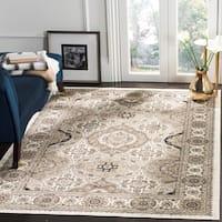 "Safavieh Atlas Traditional Oriental Viscose Ivory/ Beige Area Rug - 8' x 11'6"""