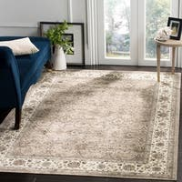 Safavieh Atlas Traditional Oriental Viscose Silver/ Ivory Area Rug - 8' x 10'