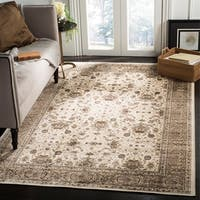 Safavieh Atlas Traditional Oriental Viscose Silver/ Silver Area Rug - 8' x 10'