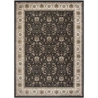 Safavieh Atlas Traditional Oriental Viscose Black/ Ivory Area Rug (8' x 10')