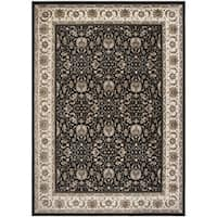 Safavieh Atlas Traditional Oriental Viscose Black/ Ivory Area Rug - 8' x 10'