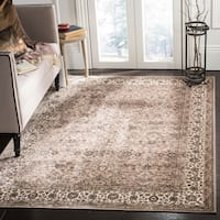 Safavieh Atlas Traditional Oriental Viscose Taupe/ Ivory Area Rug - 8' x 10'