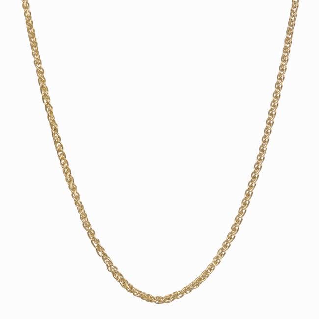 Fremada 14k Yellow Gold Wheat Necklace (18-inch)
