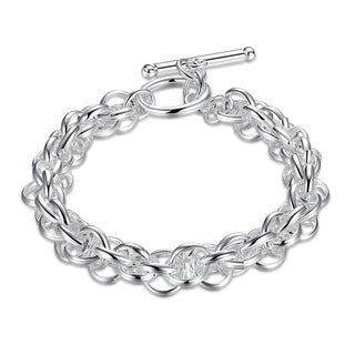 Hakbaho Jewelry Sterling Silver Interconnected Chain Bracelet