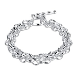 Hakbaho Jewelry Sterling Silver Interconnected Chain Bracelet|https://ak1.ostkcdn.com/images/products/16529276/P22864928.jpg?_ostk_perf_=percv&impolicy=medium