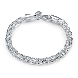 Hakbaho Jewelry Sterling Silver Thick Cut Classic Chain Bracelet
