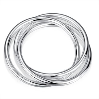 Sterling Silver Multi Lined Classic Bangle