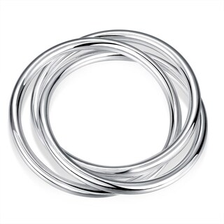 Hakbaho Jewelry Sterling Silver Multi Lined Classic Bangle