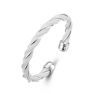 Hakbaho Jewelry Sterling Silver Intertwined Mesh Bangle