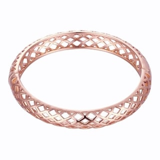 Rose Gold Plated Eyes on Me Bangle