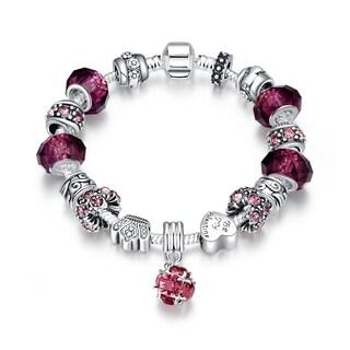 Hakbaho Jewelry 50 Shades of Pink Charm Omega Chain Bracelet|https://ak1.ostkcdn.com/images/products/16529310/P22864950.jpg?_ostk_perf_=percv&impolicy=medium
