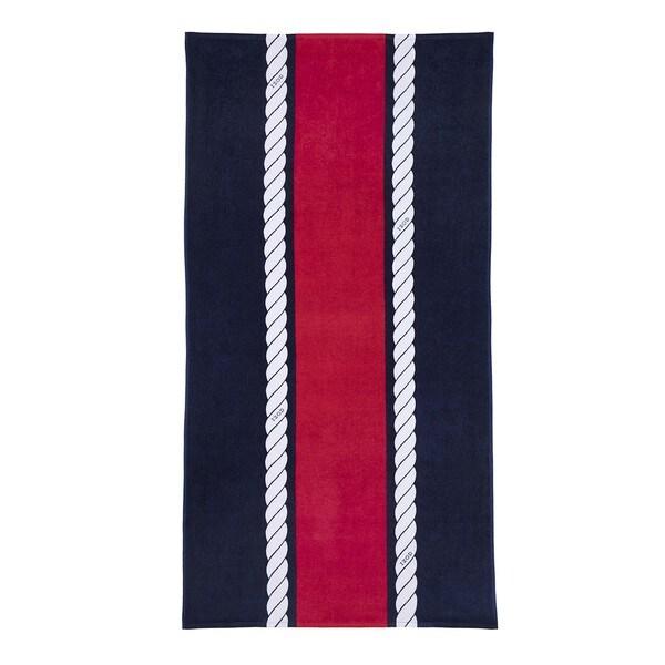 IZOD Rope Stripe Navy Beach Towel (set of 2)