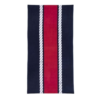 IZOD Rope Stripe Navy Beach Towel (set of 2)