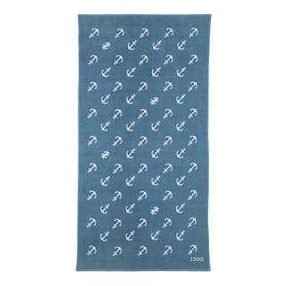 IZOD Diagonal Anchors Larkspur Beach Towel (set of 2)