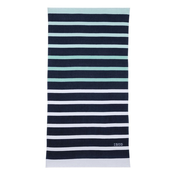 IZOD Ombre Stripe Navy Beach Towel (set of 2)