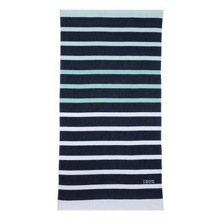 IZOD Ombre Stripe Navy Beach Towel (set of 2)