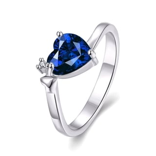 Gold Plated Heart Shaped Cubic Zircon Ring