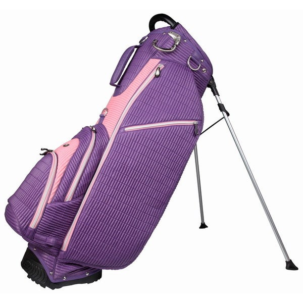 OUUL Ribbed 5 way Golf Stand Bag Purple/Pink