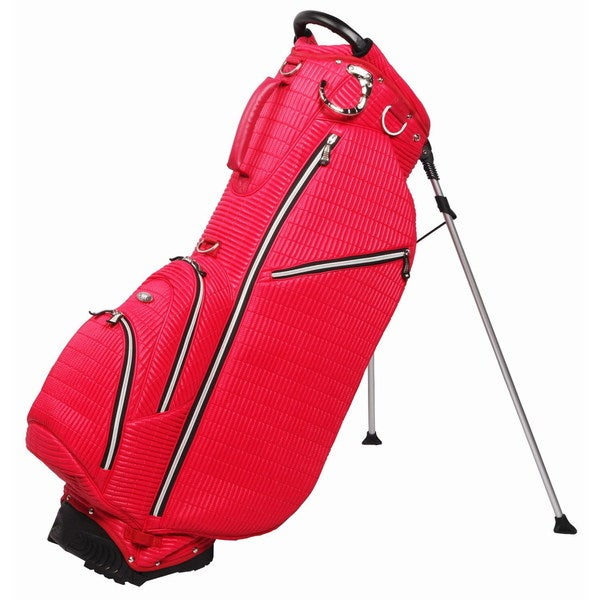 OUUL Ribbed 5 way Golf Stand Bag Red