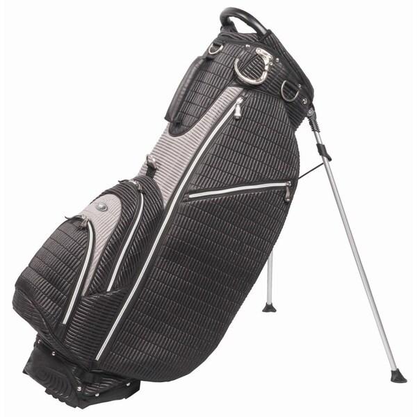 OUUL Ribbed 5 way Golf Stand Bag Black/Gray