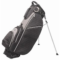 OUUL Ribbed 5 way Golf Stand Bag Black/Gray