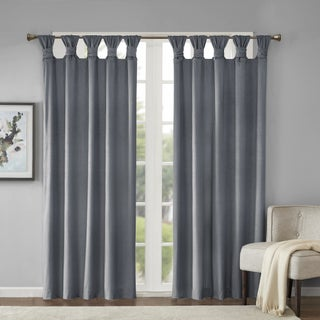 Madison Park London Poly Velvet Twisted Top Curtain Panel (More options available)
