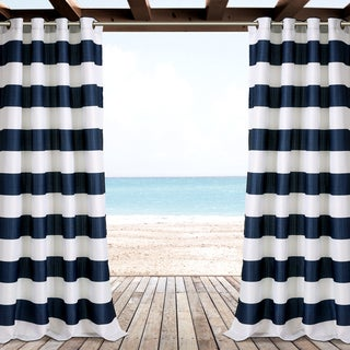 Lush Decor Stripe Outdoor Curtain Panel Pair