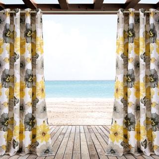 Lush Decor Leah Outdoor Curtain Panel Pair