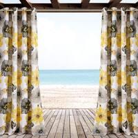 """Lush Decor Leah Outdoor Curtain Panel Pair - 52"""" W X 84"""" L"""