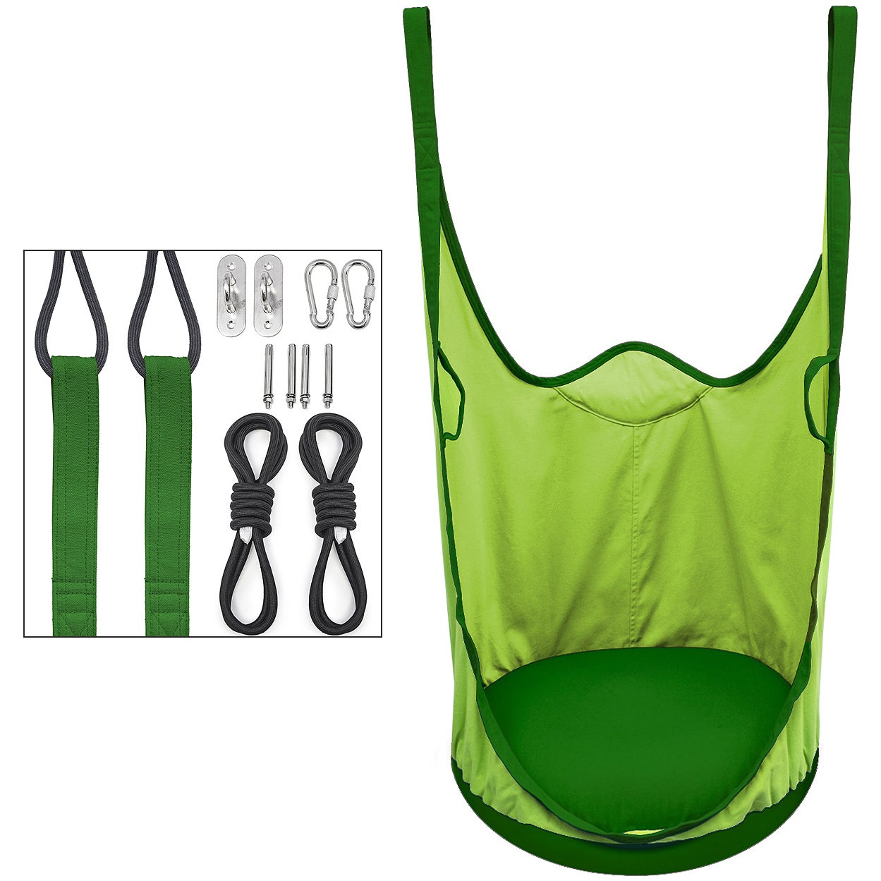 Groovy Sorbus Kids Pod Swing Chair Nook Hanging Seat Hammock Nest For Indoor And Outdoor Use Pod Green Camellatalisay Diy Chair Ideas Camellatalisaycom