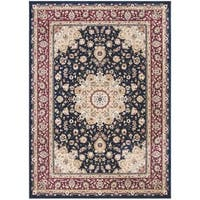 Safavieh Atlas Traditional Oriental Viscose Navy/ Red Area Rug - 8' x 10'