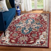 Safavieh Aspen Southwestern Geometric Hand-Tufted Wool Red/ Blue Area Rug (8' x 10')