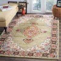 Safavieh Aspen Southwestern Geometric Hand-Tufted Wool Sage/ Brown Area Rug - 8' x 10'